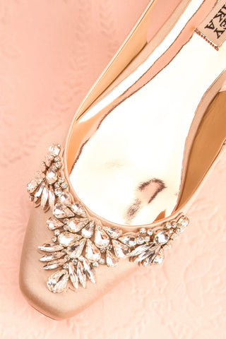 Taclet Tan Low Heel Slingback Shoes with Crystals | Boudoir 1861 2