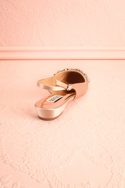 Taclet Tan Low Heel Slingback Shoes with Crystals | Boudoir 1861 8