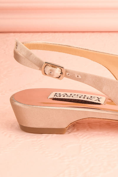 Taclet Tan Low Heel Slingback Shoes with Crystals | Boudoir 1861 6