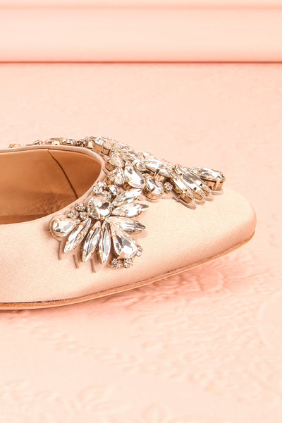 Taclet Tan Low Heel Slingback Shoes with Crystals | Boudoir 1861 7