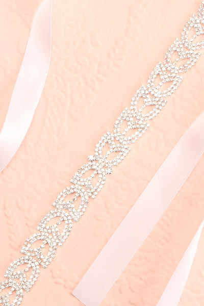 Taenia White Ribbon Belt with Crystals Ornament | Boudoir 1861 2