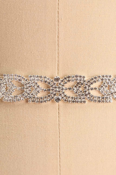 Taenia White Ribbon Belt with Crystals Ornament | Boudoir 1861 4