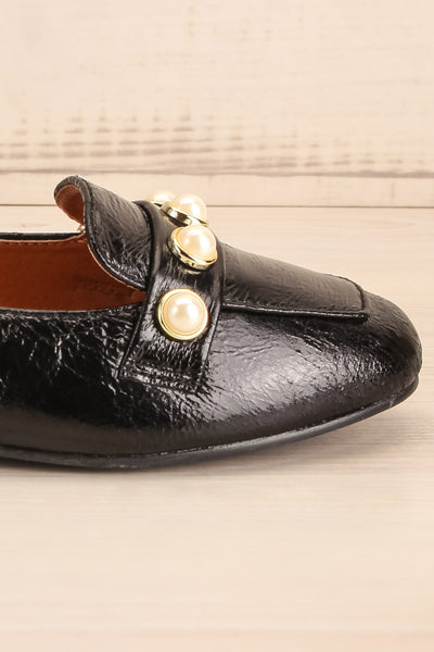 Tainate Black Patent Faux Leather Loafers | La Petite Garçonne 7