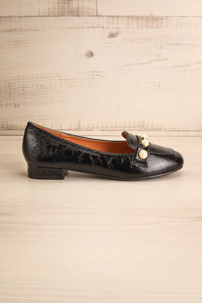 Tainate Black Patent Faux Leather Loafers | La Petite Garçonne 5