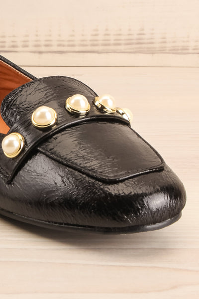Tainate Black Patent Faux Leather Loafers | La Petite Garçonne 4