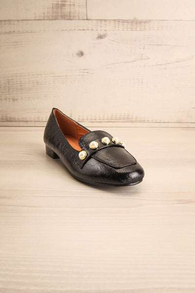 Tainate Black Patent Faux Leather Loafers | La Petite Garçonne 3