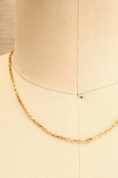 Tanya Gold Chain Necklace | Collier | La Petite Garçonne close-up