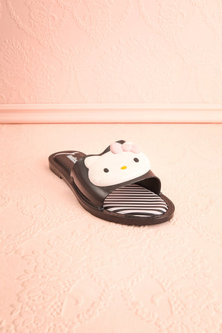 Tarnem Black Hello Kitty Slip-On Sandals | Boutique 1861 3