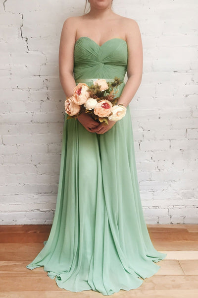 Myrcella Sage | Green Chiffon Dress