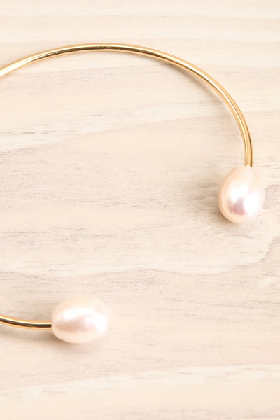 Tertium Doré Gold Bangle Bracelet with Pearls | La Petite Garçonne 3