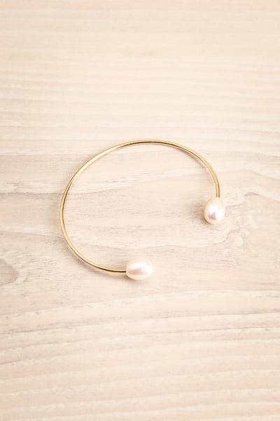 Tertium Doré Gold Bangle Bracelet with Pearls | La Petite Garçonne 1
