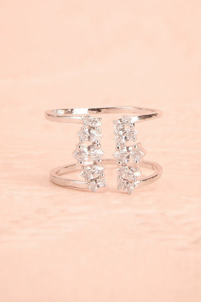 Tilis - Silver clear crystals ring 3
