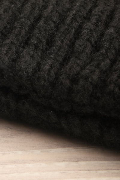 Timpaki Black Knit Tuque close-up | La Petite Garçonne