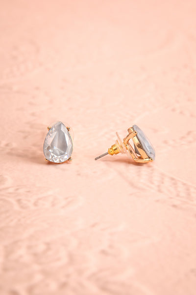Tokai Ciel Light Blue Crystal Teardrop Stud Earrings | Boudoir 1861