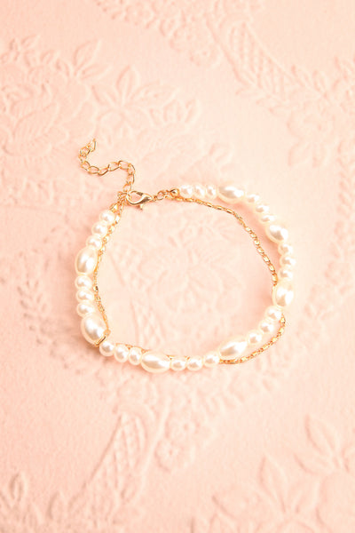 Tokie Pearl & Golden Chain Ankle Bracelet | Boutique 1861 1