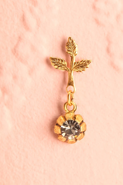 Tulipier - Golden dangling earrings