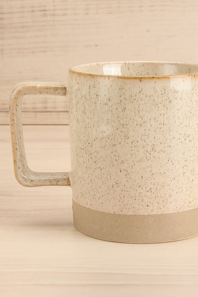 Tuzla Grey Mug with Dots and Stripe | La petite garçonne close-up