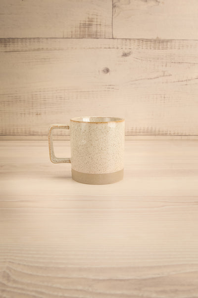 Tuzla Grey Mug with Dots and Stripe | La petite garçonne