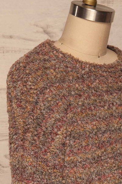 Tychy Gris Grey Knit Sweater | Tricot Doux | La Petite Garçonne side close up