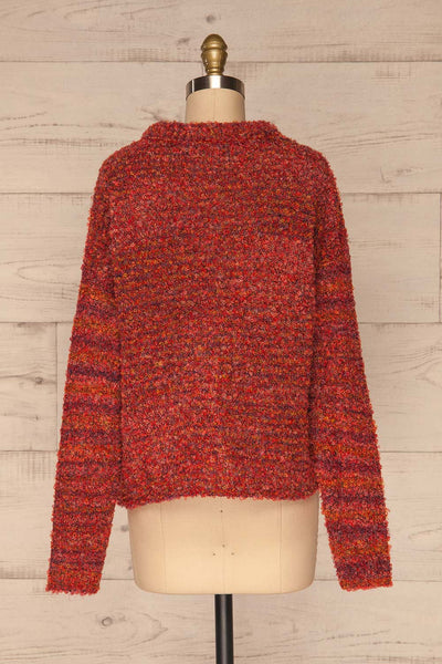 Tychy Rouge Red Knit Sweater | Tricot Doux | La Petite Garçonne back view