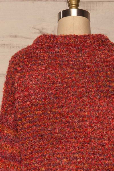 Tychy Rouge Red Knit Sweater | Tricot Doux | La Petite Garçonne back close up
