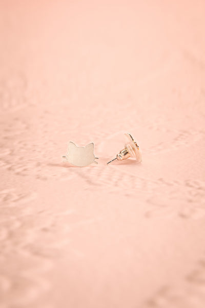 Uncatia Silver Cat Stud Earrings | Boutique 1861