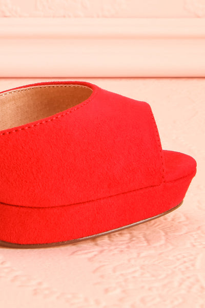 Urfe Red Faux-Suede Platform Stiletto Sandals | Boutique 1861 7