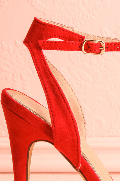 Urfe Red Faux-Suede Platform Stiletto Sandals | Boutique 1861 6