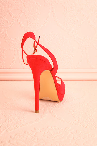 Urfe Red Faux-Suede Platform Stiletto Sandals | Boutique 1861 8