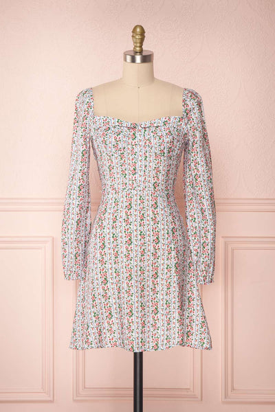 Uzoma Floral Long Sleeved Flared Dress | Boutique 1861