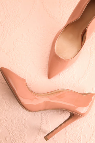 Valadon Pink Patent Faux-Leather Pointed Toe Heels | Boutique 1861 1