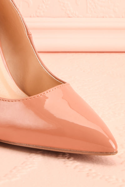 Valadon Pink Patent Faux-Leather Pointed Toe Heels | Boutique 1861 5