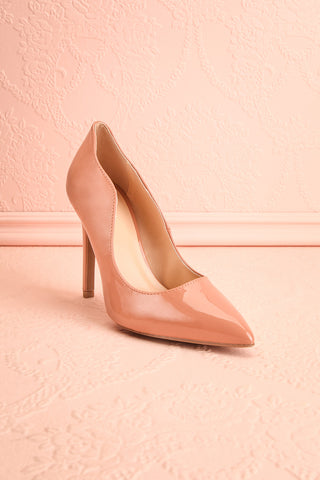 Valadon Pink Patent Faux-Leather Pointed Toe Heels | Boutique 1861 4