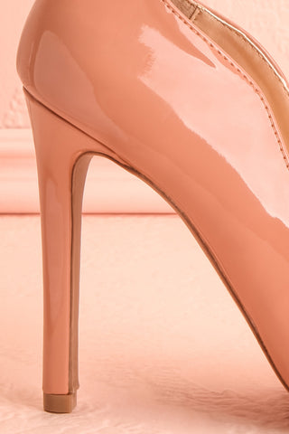 Valadon Pink Patent Faux-Leather Pointed Toe Heels | Boutique 1861 7