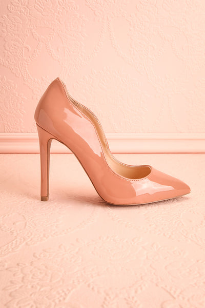 Valadon Pink Patent Faux-Leather Pointed Toe Heels | Boutique 1861 6
