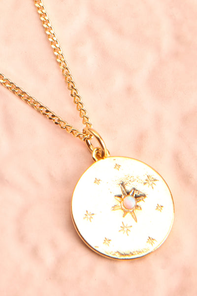 Valentina Terechkova Gold Pendant Necklace | Boutique 1861 flat medallion close-up