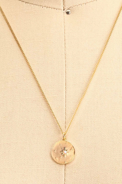 Valentina Terechkova Gold Pendant Necklace | Boutique 1861 medallion close-up