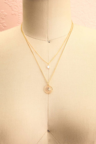 Valentina Terechkova Gold Pendant Necklace | Boutique 1861 duo view