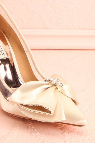Van Loo | Ivory Satin Heeled Shoes