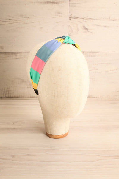 Vaxholm Colourfully Striped Headband with Knot | La Petite Garçonne