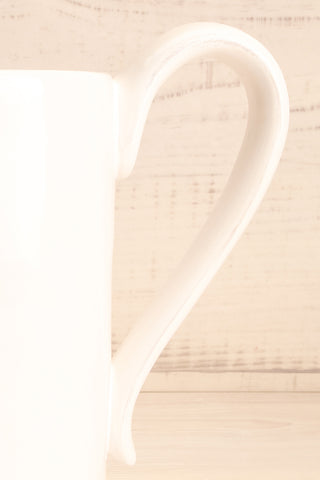 Velje White Ceramic Pitcher with Bees handle close-up | La Petite Garçonne Chpt. 2