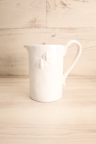 Velje White Ceramic Pitcher with Bees | La Petite Garçonne Chpt. 2