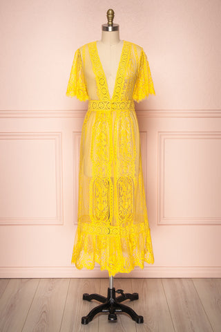 Virrey Yellow Lace Long Kimono | Boutique 1861 1