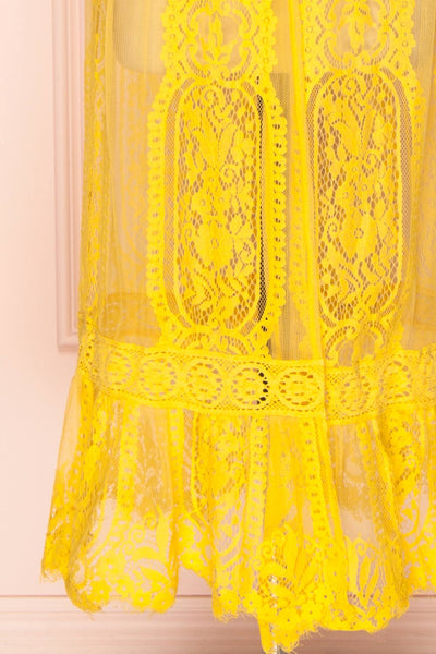 Virrey Yellow Lace Long Kimono | Boutique 1861 7
