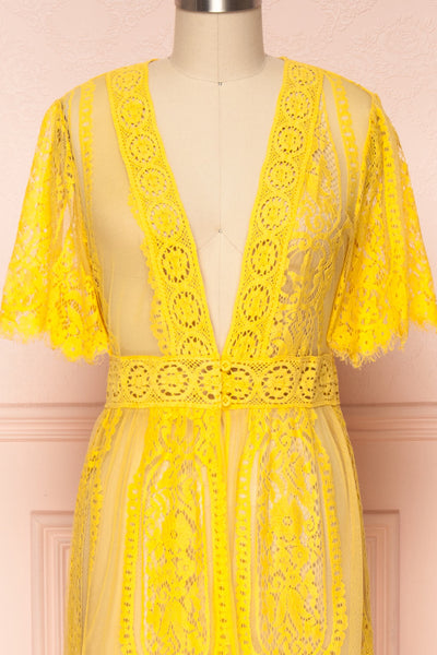Virrey Yellow Lace Long Kimono | Boutique 1861 2