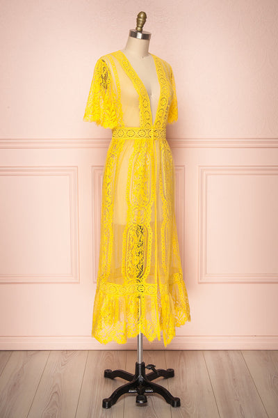 Virrey Yellow Lace Long Kimono | Boutique 1861 3