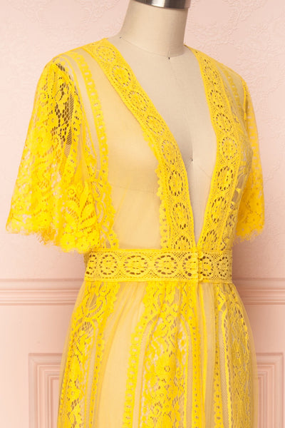 Virrey Yellow Lace Long Kimono | Boutique 1861 4