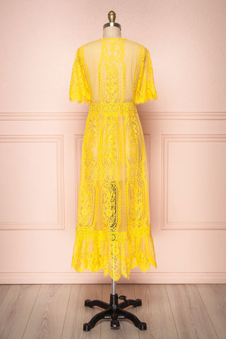 Virrey Yellow Lace Long Kimono | Boutique 1861 5