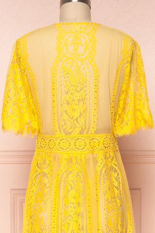 Virrey Yellow Lace Long Kimono | Boutique 1861 6