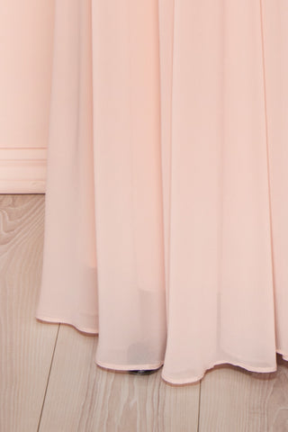 Viviette Blush Plus Size Gown | Robe Longue | Boutique 1861 bottom close-up